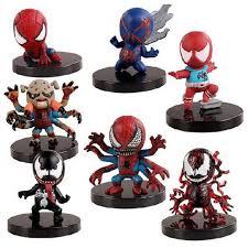 shop 7pcs heros spider figurines set 2016