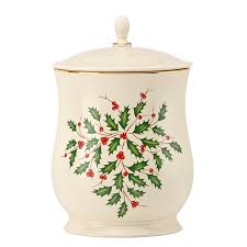 Spode Christmas Tree Santa Cookie Jar by Amazon Com Lenox Holiday Cookie Jar With Lid Kitchen U0026 Dining