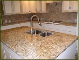 Kitchen Counter Backsplash Interesting Backsplash For Santa Cecilia Granite Countertop