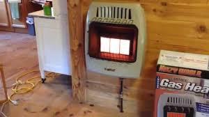 Gas Heater Wall Mount Kozy World Kwd325 Dual Fuel Heater Youtube
