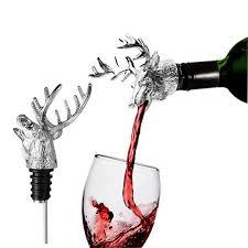 unique wine bottles 1pcs stainless steel deer stag wine pourer unique wine bottle