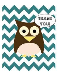 free printable chevron owl thank you cards fit real food