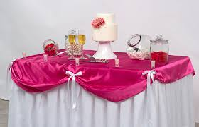 table skirts for wedding reception tables
