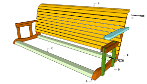 garden swing bench plans home outdoor decoration