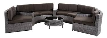 Zuma Wicker Round Outdoor Sectional Set With Coffee Table - Round outdoor sofa 2