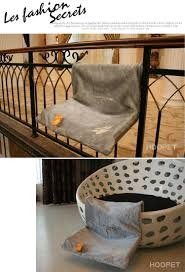 pet cat cradle hammock radiator bed cushion with adjustable