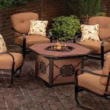Patio Furniture With Gas Fire Pit by Agio Willowbrook Gas Fire Pit