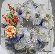 ribbon wreath blue deco mesh wreath ribbon wreath floral wreath