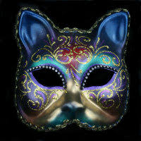 venetian cat mask cat mask with crystals