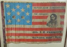 Johns Flag Lot Detail Rare John Fremont Dayton Portrait 1856 Campaign Flag