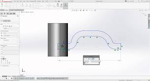 how to use one sketch to draw a pattern around a cylinder in