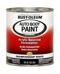 rust oleum acrylic auto body paints