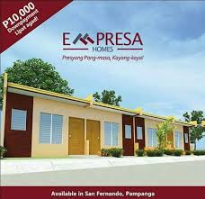 Row House Model - empresa homes house and lot for sale in pampanga viber
