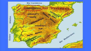 Spain Regions Map by Physical Map Of Spain Youtube