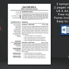 temple resume format resume template instant download cv template professional