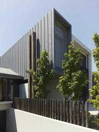 architecture villa home exterior design fence wooden poles