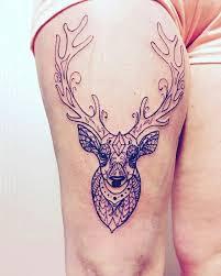 my new thigh ornamental deer mandala deer linework