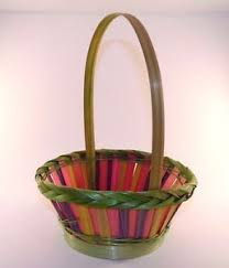 Easter Egg Basket Decorations by 8 In Pink Purple Green Wicker Easter Egg Basket Decoration Spring
