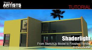 tutorial sketchup modeling shaderlight from sketchup model to finished render sketchup 3d