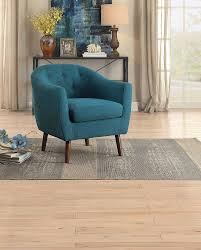 Aqua Accent Chair by Homelegance Lucille Accent Chair Blue 1192bl