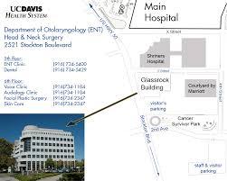 Uc Map Uc Davis Department Of Otolaryngology Ear Nose U0026 Throat Head