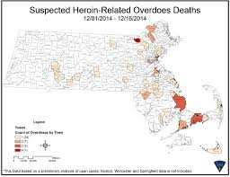 Massachusetts State Map by Mass State Police Looking For Link After Rash Of Heroin Overdose