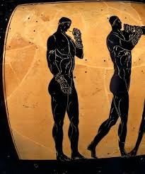 Greek Black Figure Vase Painting Boxing Gloves Of The Ancient World