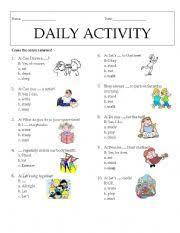 esl kids worksheets daily activity