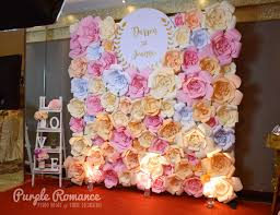 wedding backdrop design malaysia paper flower photo booth backdrop at hee lai ton jalan imbi