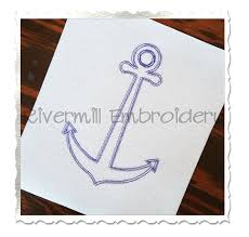 scribble sketch anchor machine embroidery design