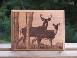 Outdoorsman Home Decor Laser Engraved Wood Plaque Deer Hunter U0027s Plaque