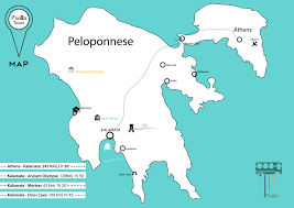 Map Of Ancient Greece Peloponnese Ancient Greece Map Map Of Ancient Greece