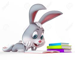 easter bunny books bunny reading the books stock photo picture and royalty free