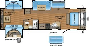 triple bunk travel trailer floor plans jayco jay flight 32tsbh triple slide bunkhouse tcrv