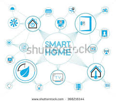 Design Home Network System Smart Home System Smart Home Network Stock Vector 368216144