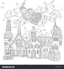 vector cute christmas santa claus doodle stock vector 498926302