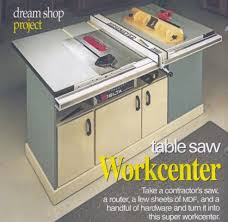 table saw station plans table saw router workstation project woodworking talk