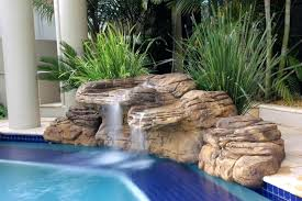 diy pool waterfall diy pool waterfalls beachcomber complete swimming pool waterfall