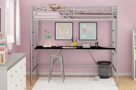 amazon com emily premium twin loft bunk bed with desk tiny house