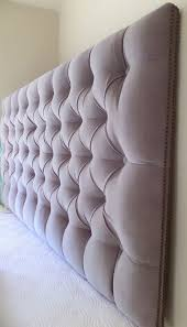 Wall Mounted Headboard King Sized Headboard Tufted Upholstered Velvet Fabric Nailhead