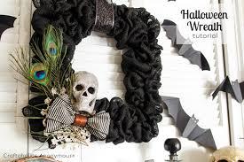 craftaholics anonymous burlap halloween wreath tutorial