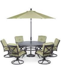 Patio Furniture Swivel Chairs Nottingham Outdoor Cast Aluminum 9 Pc Dining Set 60