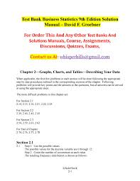 test bank business statistics 9th edition solution manual u2013 david