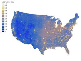 national map national park service map shows the loudest quietest places in