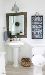 Pink Flamingo Bathroom Accessories by Beach Cottage Powder Bathroom And Pink Flamingos The House Of