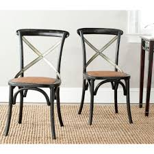 Hickory White Dining Room Furniture Safavieh Eleanor Hickory X Back Side Chair Set Of 2 Amh9501b