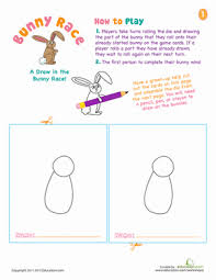 race to draw the bunny worksheet education com
