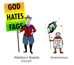 Anonymous Flag Westboro 4chan Flag Bearers Know Your Meme