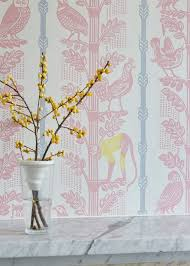 wallpaper with birds monkeys and birds a wallpaper by sheila robinson st jude s