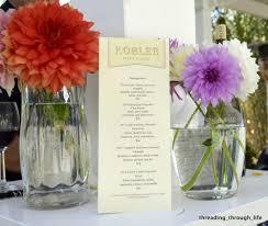 family garden menu wine tasting menu accompanied by fresh dahlias picked from the
